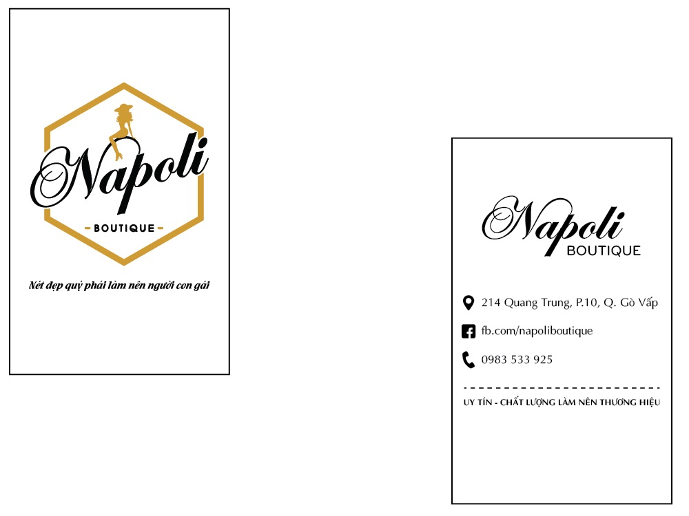 mau thiet ke name card napoli boutique