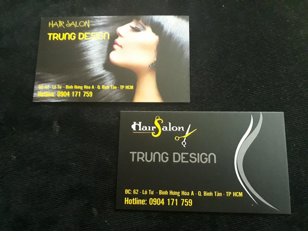 mau thiet ke name card hair salon